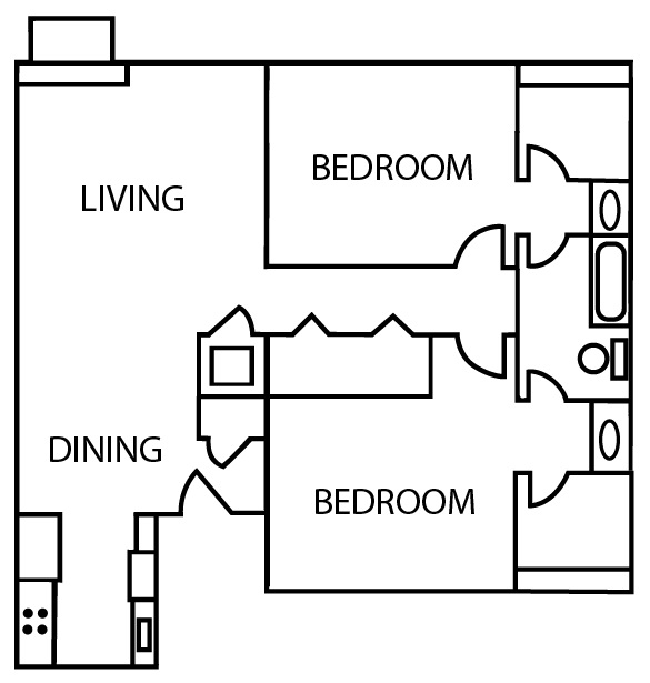 Bridgeport Apartments - Floorplan - B3