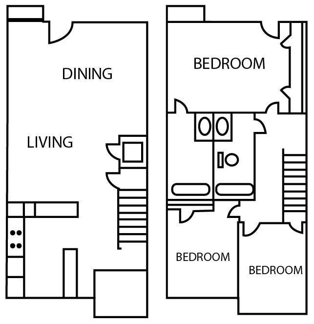 Informative Picture of Three Bedroom Townhouse