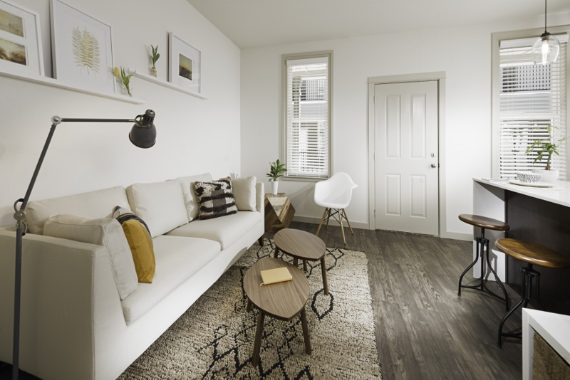 Modern Apartment Interiors at The Briq on 4th Street in Bentonville, Arkansas