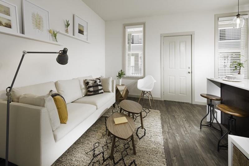 Modern Apartment Interiors at The Briq on 4th Street in Bentonville, Arkansas