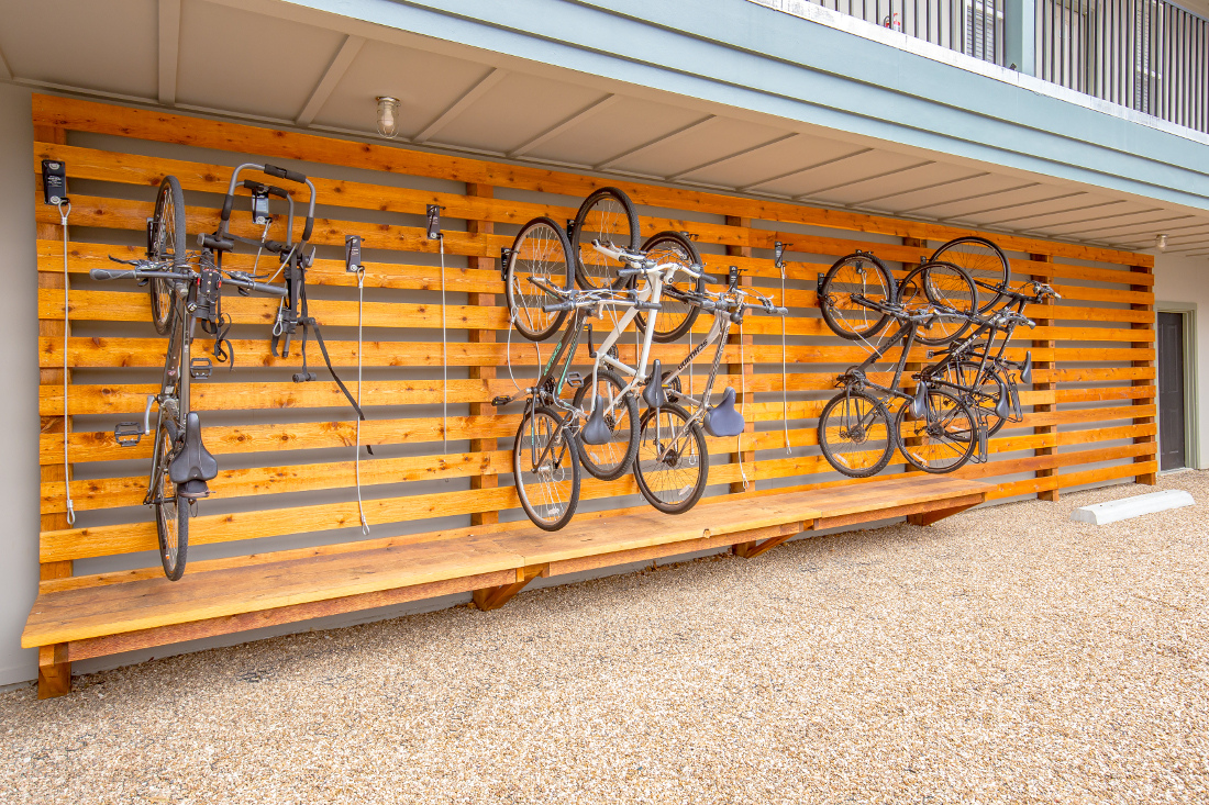 Large Bike Rack at The Briq on 4th Street in Bentonville, Arkansas