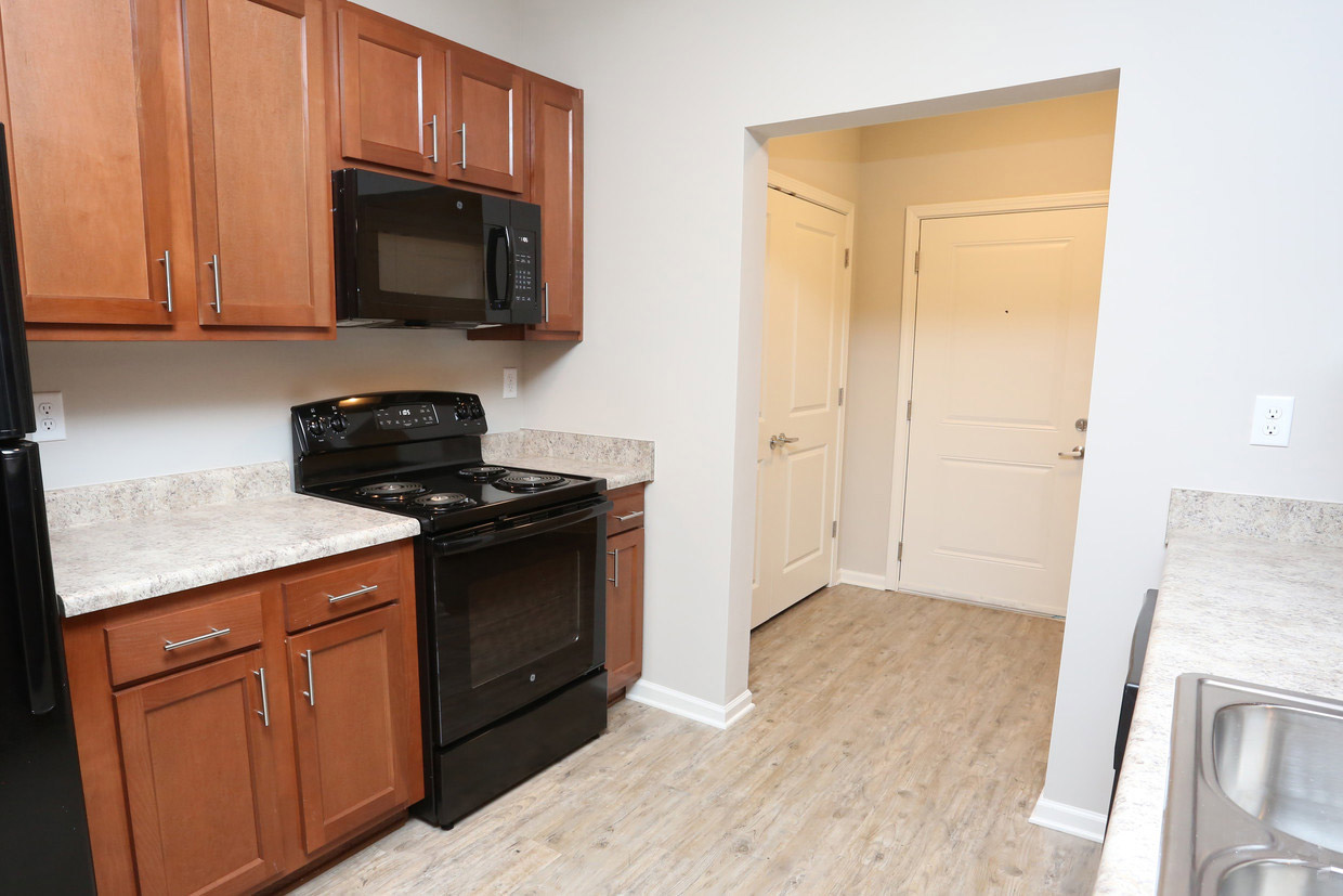 Kitchen Counter Space at Bristol Bluffs Apartments in Louisville, Kentucky