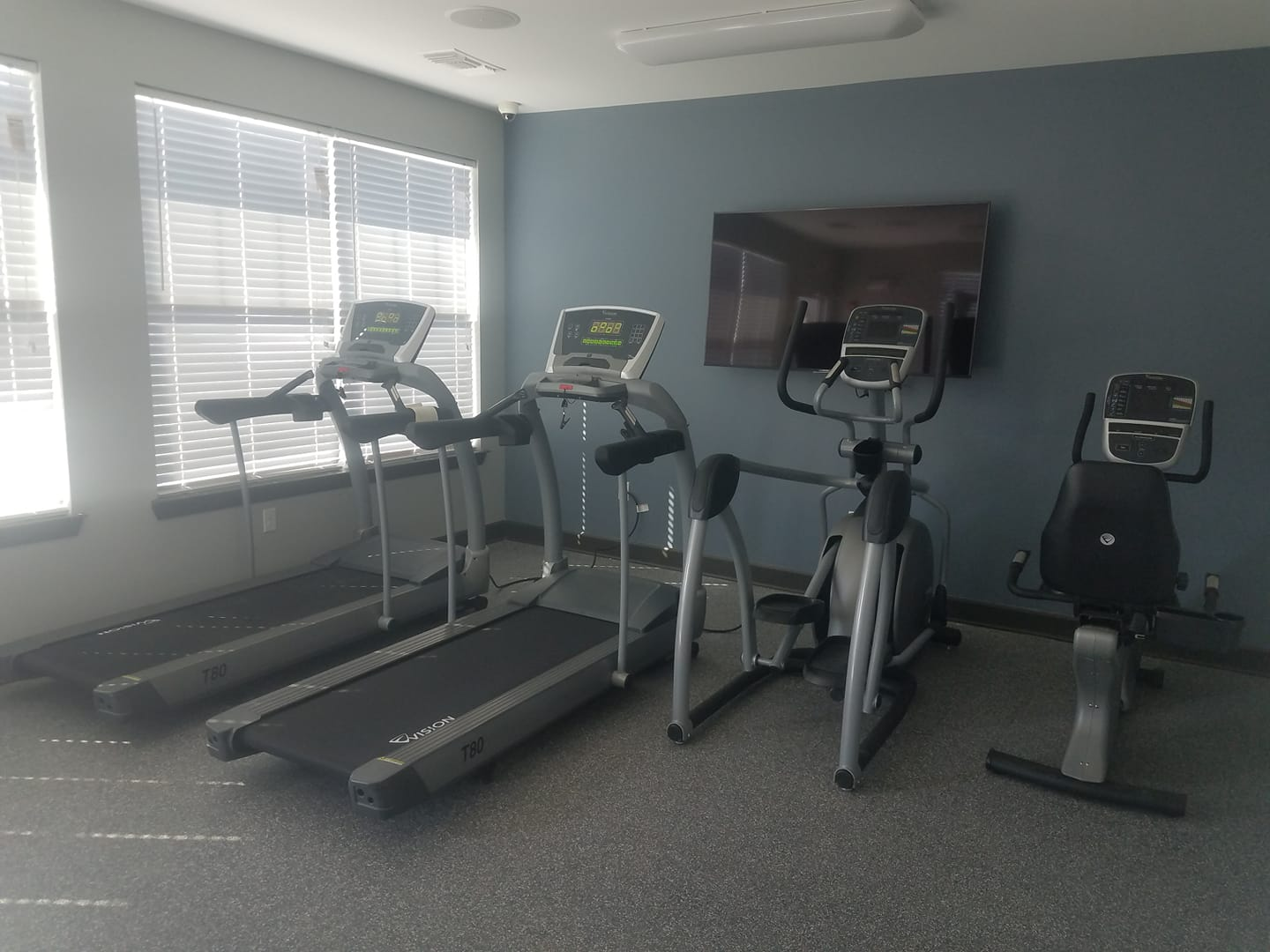 Fitness Center at Bristol Bluffs Apartments in Louisville, Kentucky