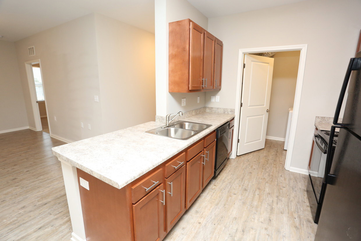 Spacious Kitchen at Bristol Bluffs Apartments in Louisville, Kentucky