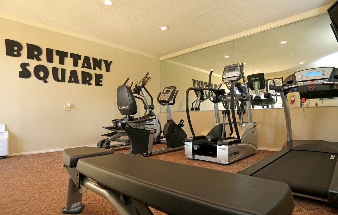 Fitness Center at the Brittany Square Apartments in Tulsa, OK