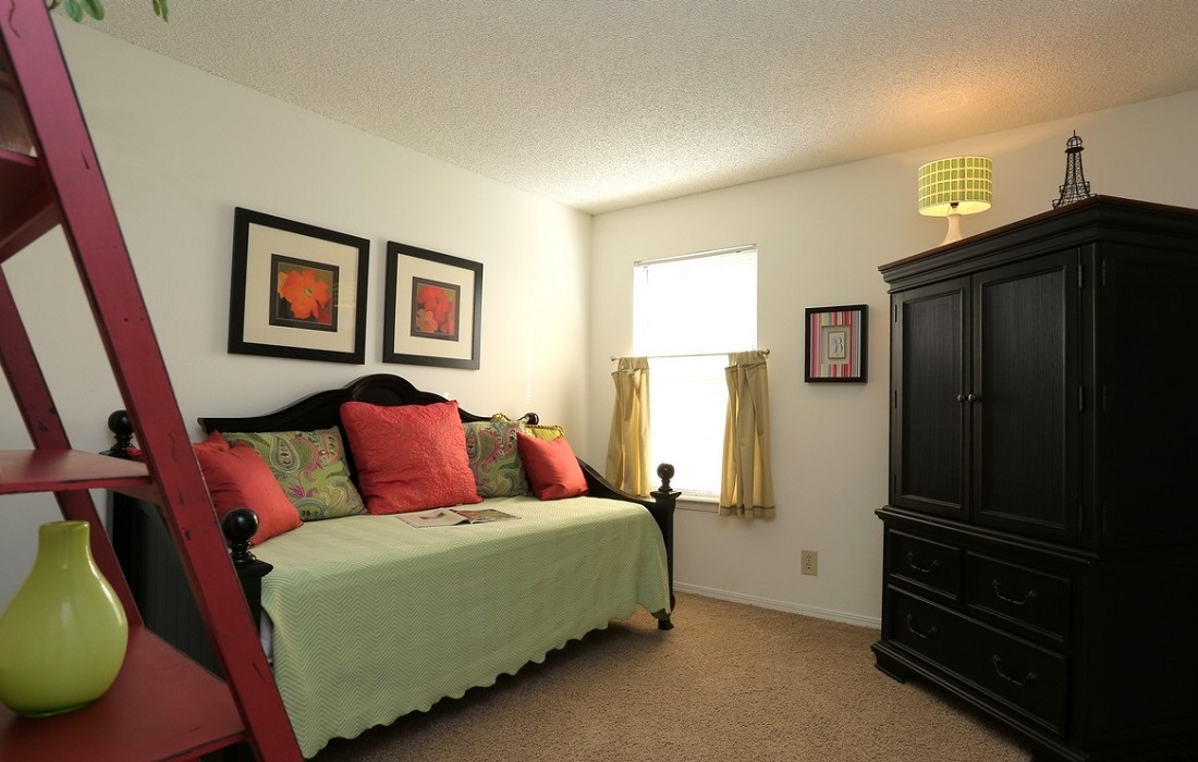 Carpeted Bedrooms at Brittany Square Apartments in Tulsa, OK