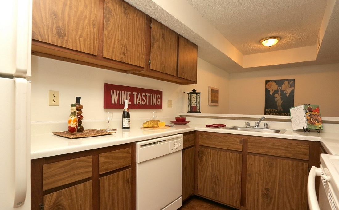 Spacious Cabinets at Brittany Square Apartments in Tulsa, OK