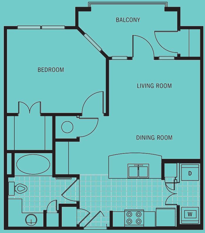 Brookleigh Flats Luxury Apartment Homes - Floorplan - A-1