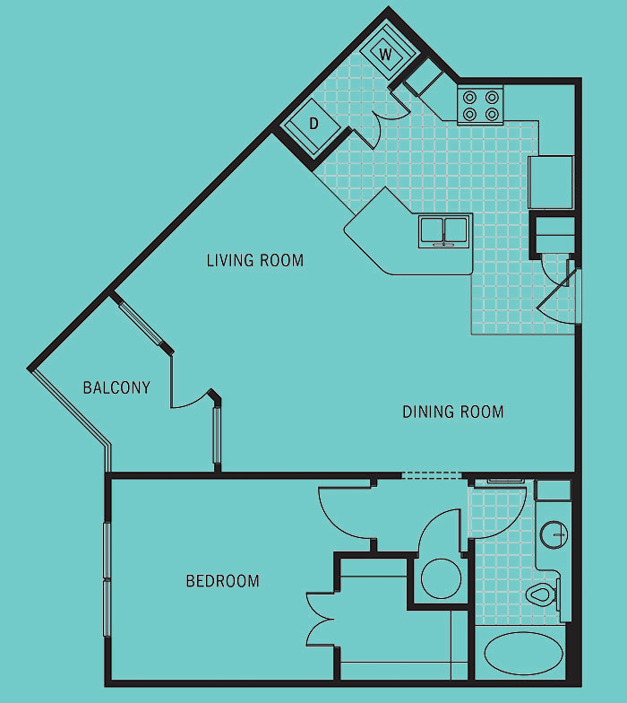Brookleigh Flats - Floorplan - A-4