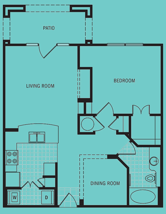 Brookleigh Flats - Floorplan - B-6A
