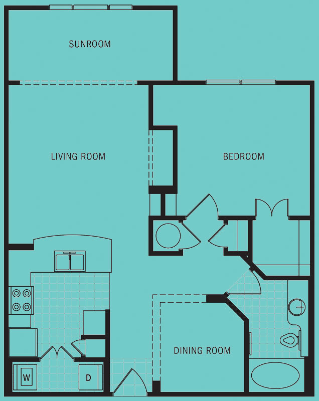 Brookleigh Flats Luxury Apartment Homes - Floorplan - A-6B