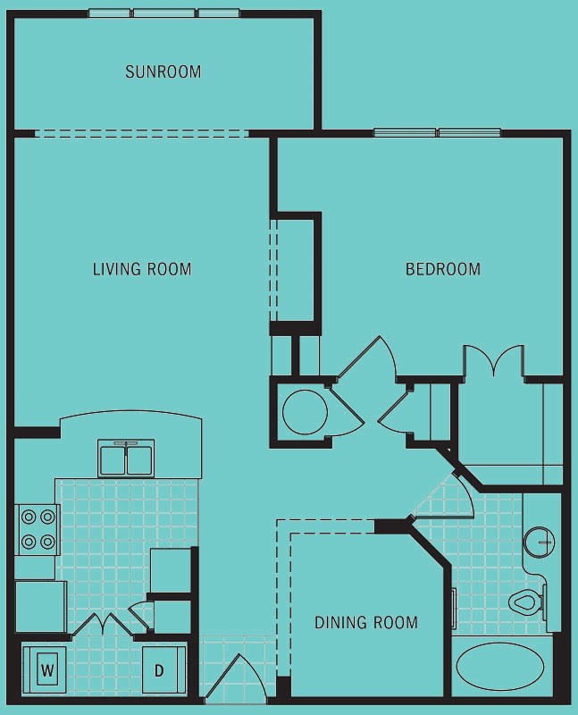 Brookleigh Flats Luxury Apartment Homes - Floorplan - B-6C
