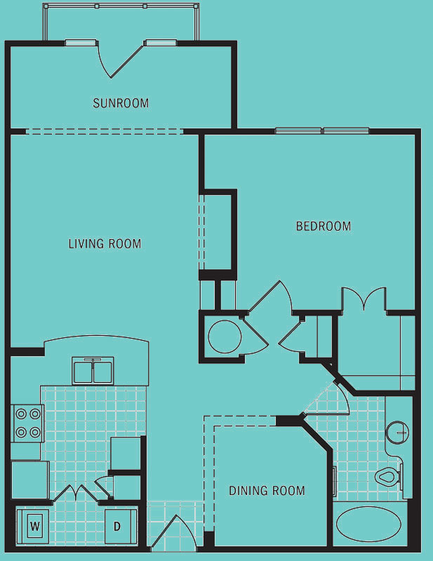 Brookleigh Flats - Floorplan - A-6D