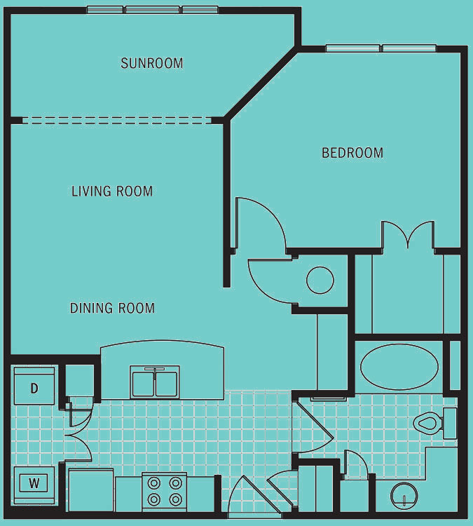 Brookleigh Flats Luxury Apartment Homes - Floorplan - A-7
