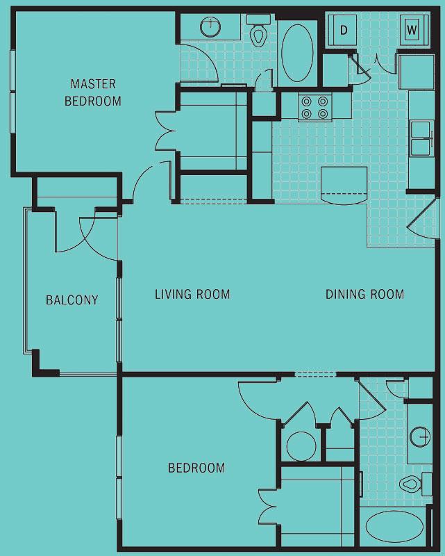 Brookleigh Flats Luxury Apartment Homes - Floorplan - B-1