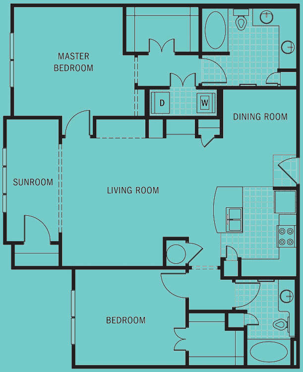 Brookleigh Flats Luxury Apartment Homes - Floorplan - B-4A