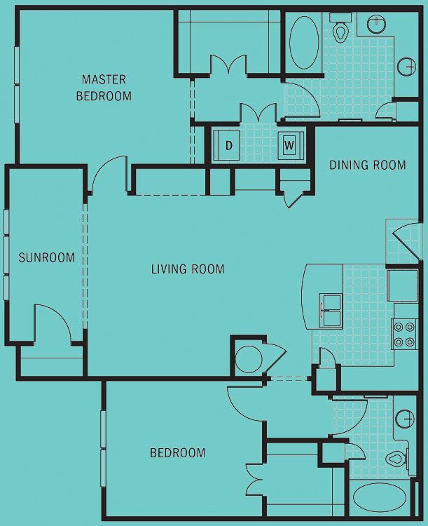 Brookleigh Flats Luxury Apartment Homes - Floorplan - B-4B