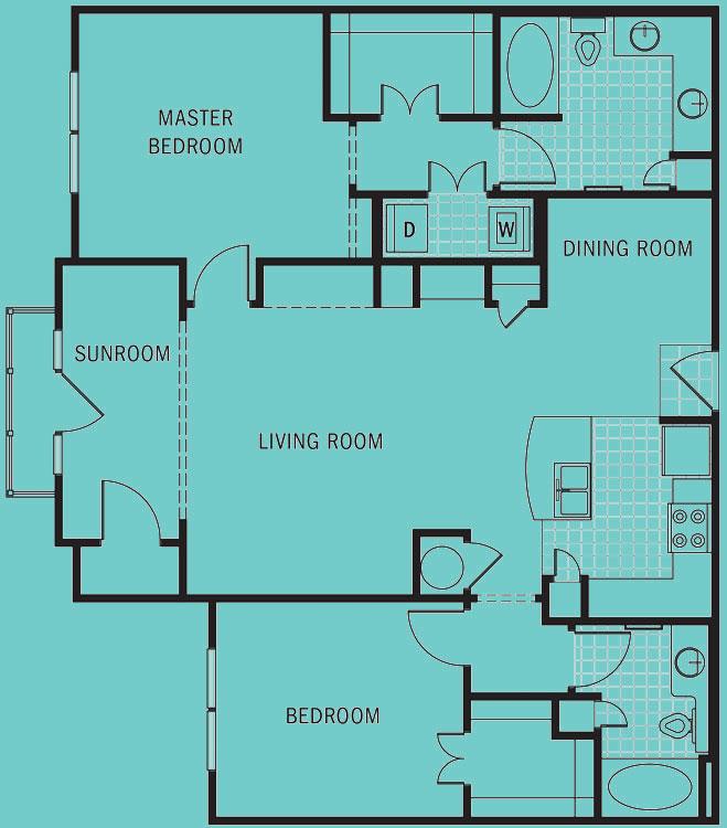 Brookleigh Flats - Floorplan - B-4D