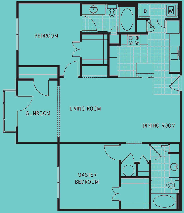 Brookleigh Flats - Floorplan - B-6D