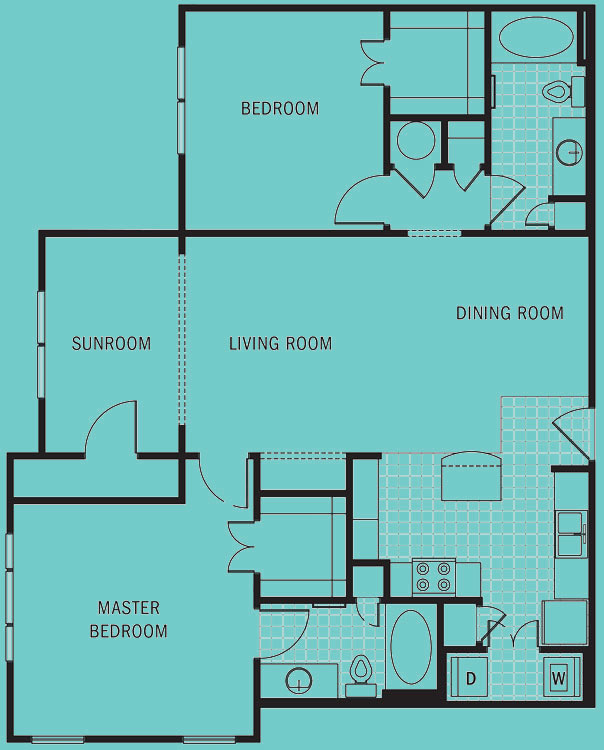 Brookleigh Flats Luxury Apartment Homes - Floorplan - B-7A