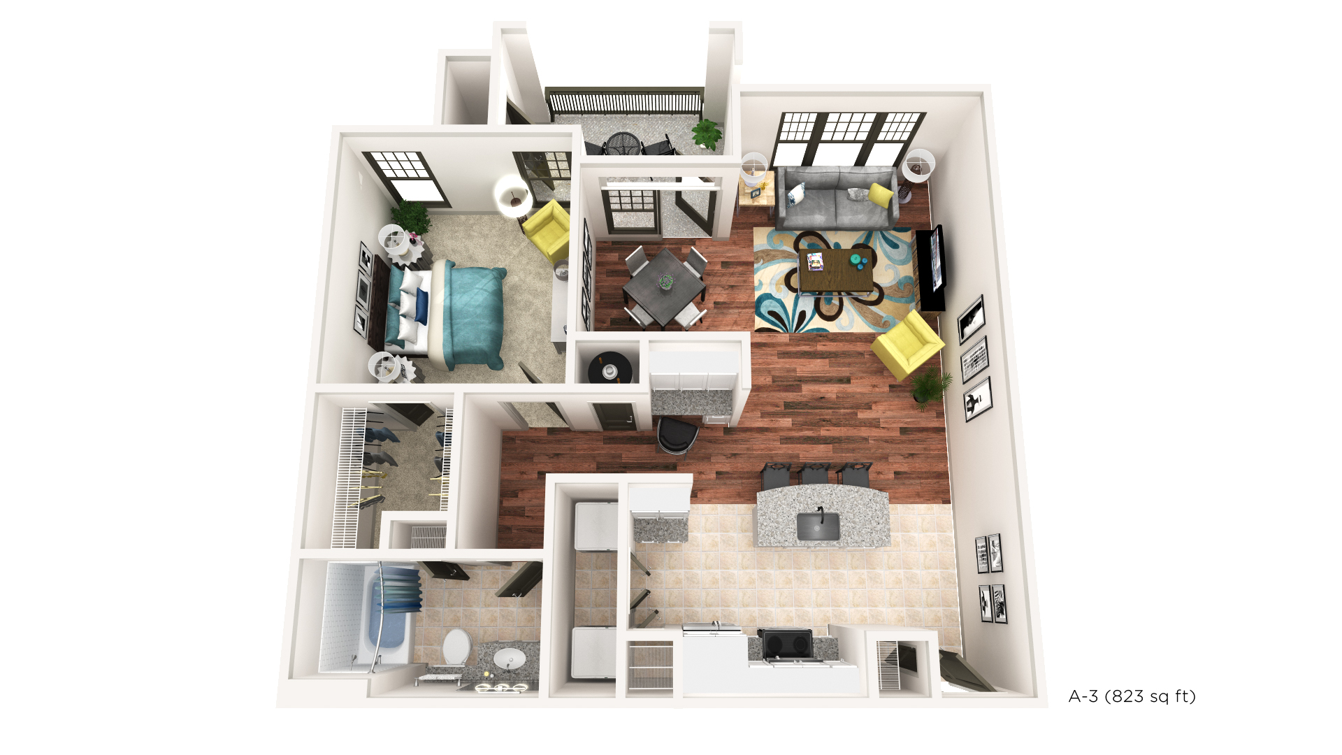 Brookleigh Flats Luxury Apartment Homes - Floorplan - A-3