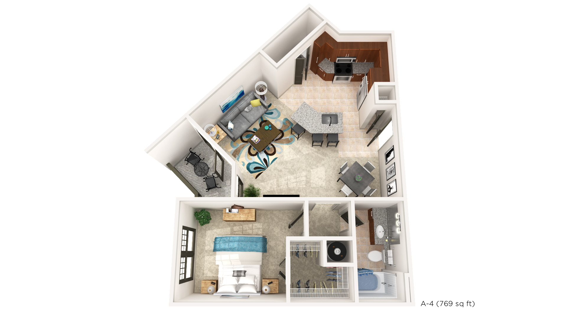 Brookleigh Flats Luxury Apartment Homes - Floorplan - A-4