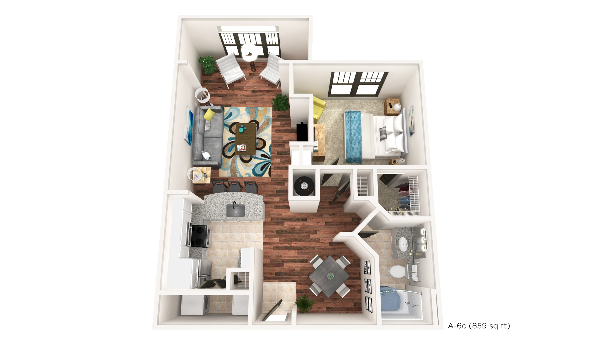 Brookleigh Flats Luxury Apartment Homes - Floorplan - A-6C