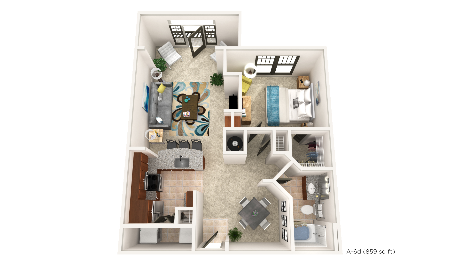 Brookleigh Flats Luxury Apartment Homes - Floorplan - A-6D