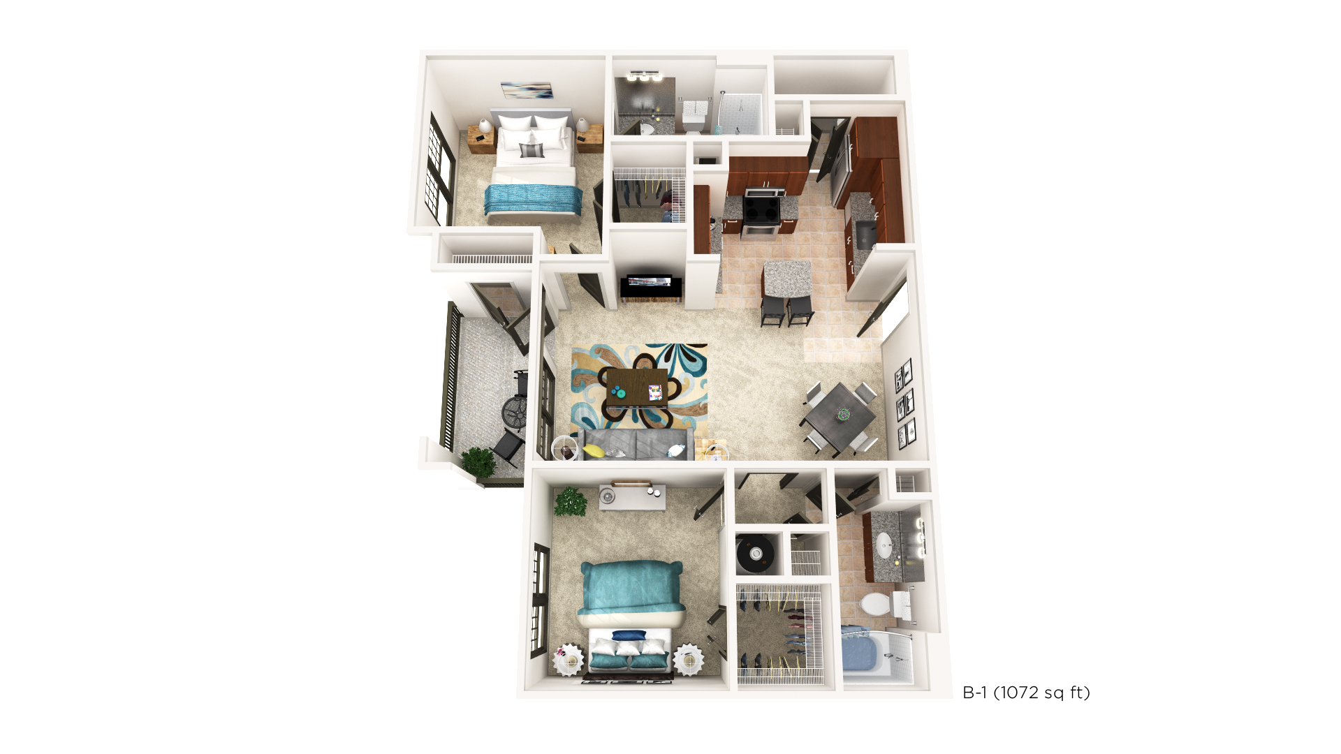 Brookleigh Flats Luxury Apartment Homes - Floorplan - B-1
