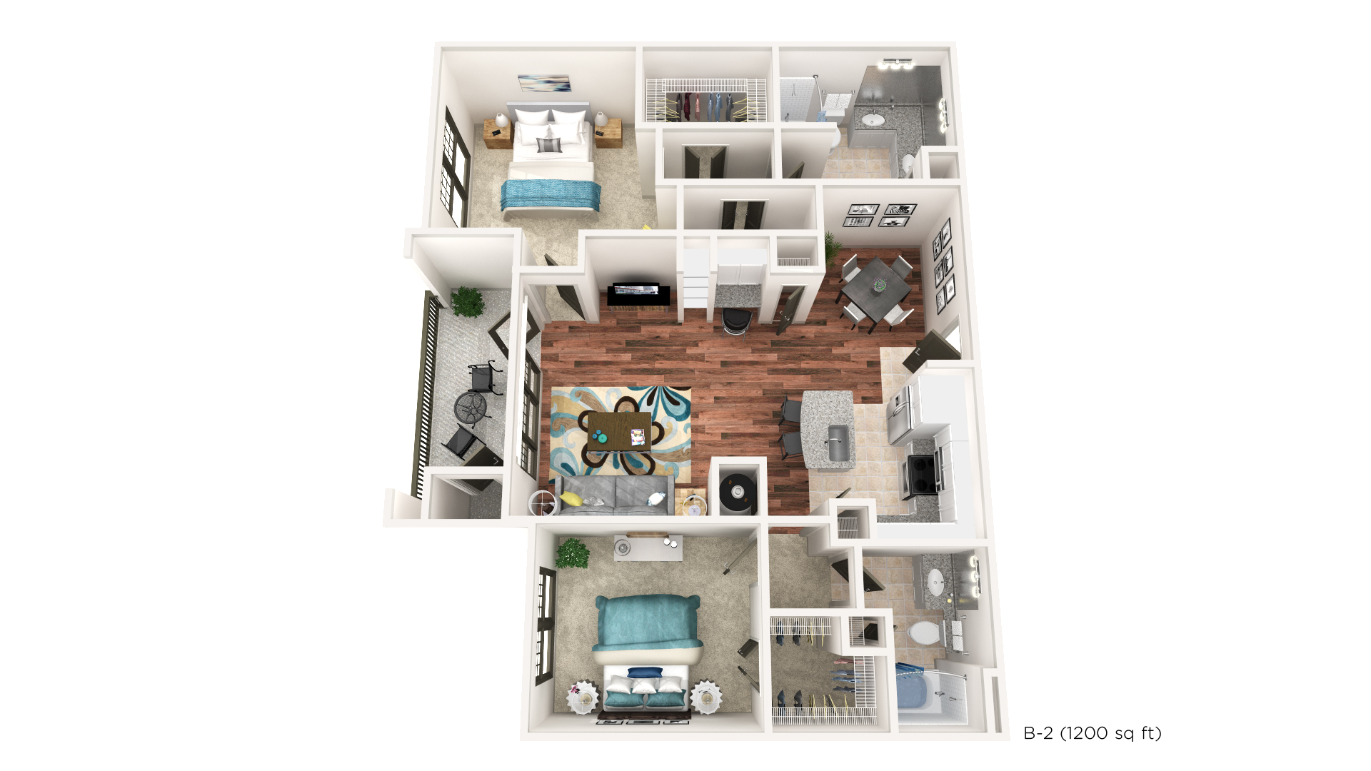Brookleigh Flats Luxury Apartment Homes - Floorplan - B-2