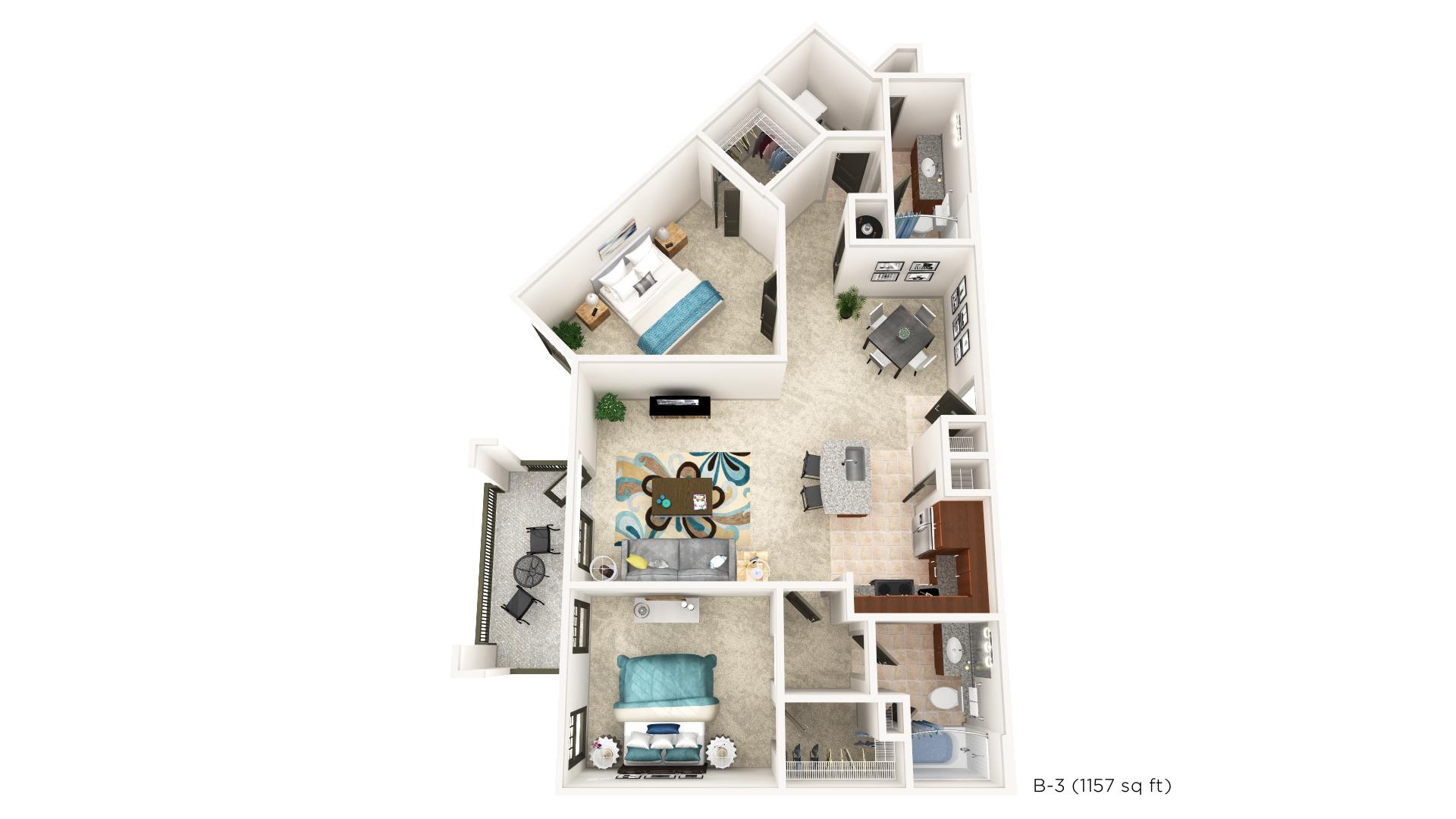 Floorplan - B-3 image