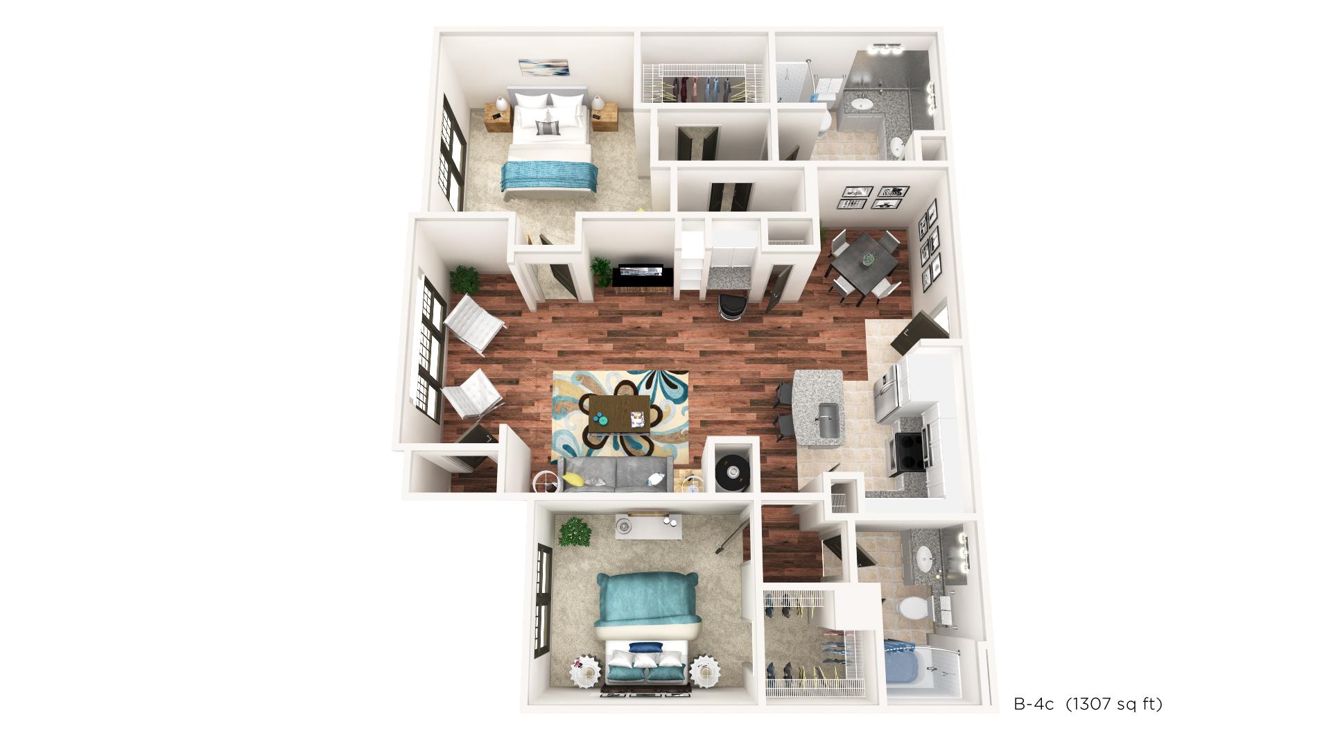 Floorplan - B-4C image
