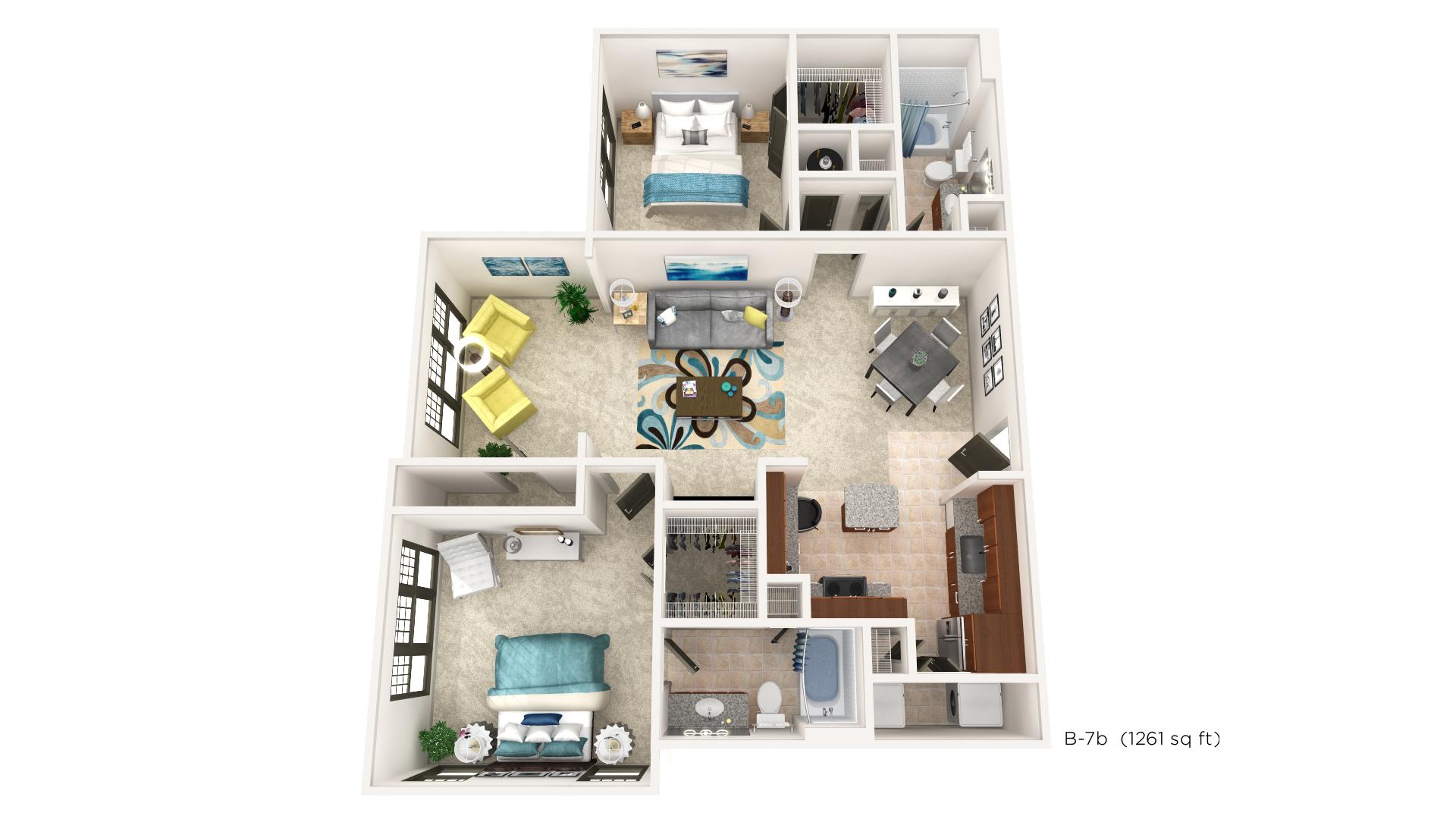 Brookleigh Flats Luxury Apartment Homes - Floorplan - B-7B