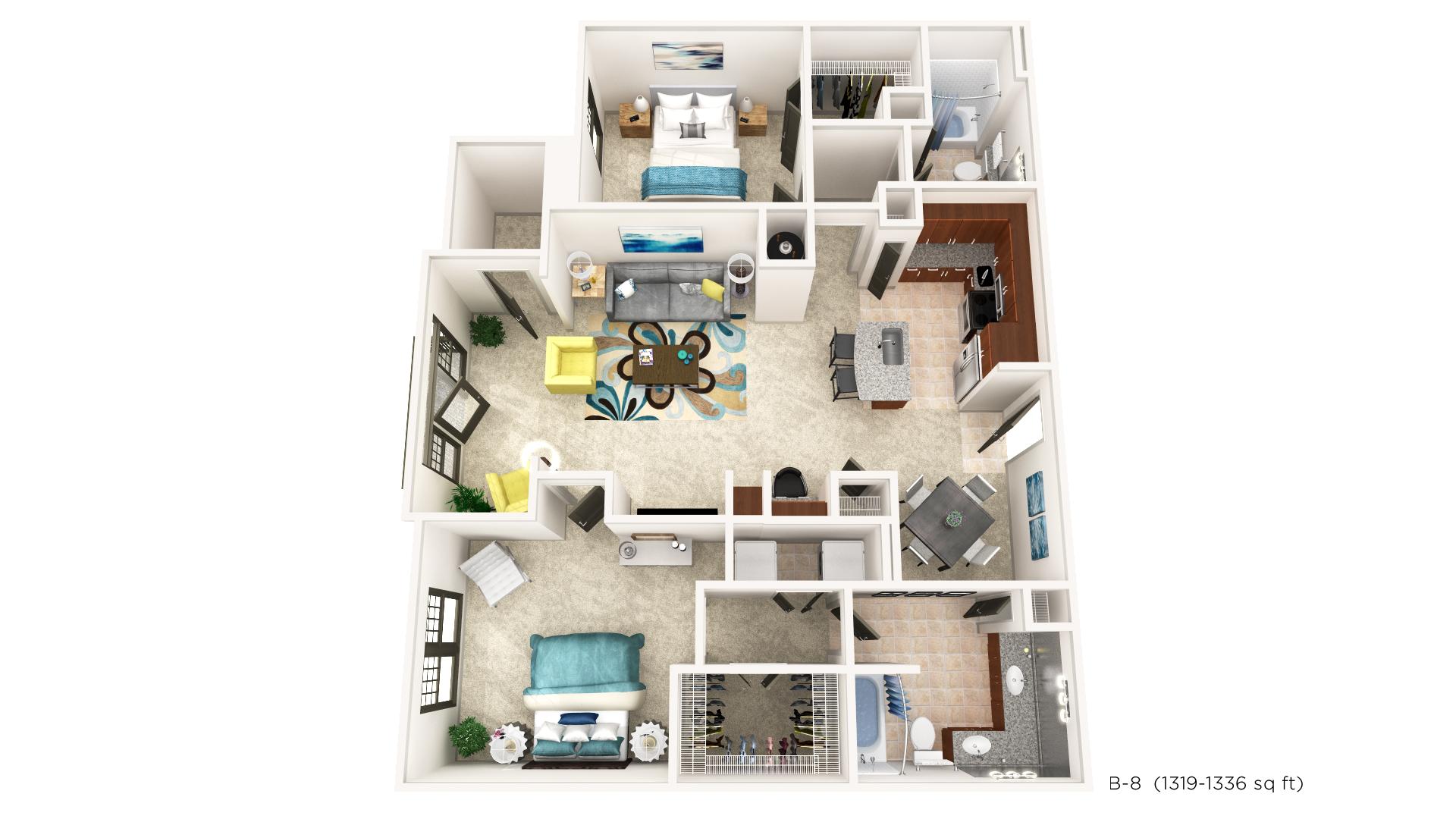 Floorplan - B-8 image