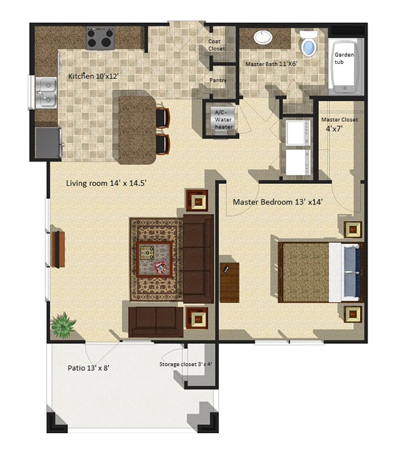 Brookstone Park Apartments - Floorplan - Dogwood