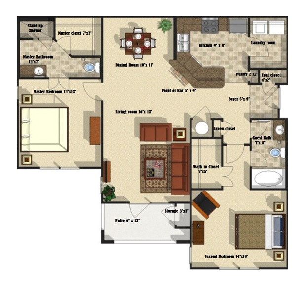 Brookstone Park Apartments - Floorplan - Live Oak
