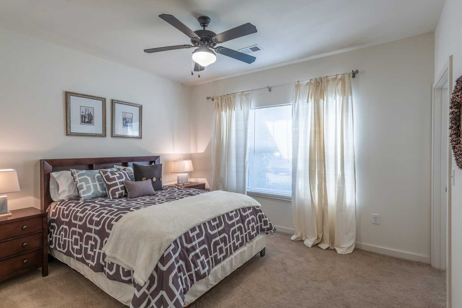 Spacious Bedroom at Brookstone Park Apartments in Covington, LA