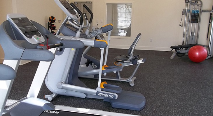 Fitness Center at Brookstone Park Apartments in Covington, LA