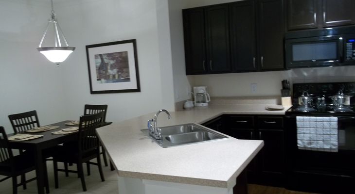 Open Kitchen at Brookstone Park Apartments in Covington, LA