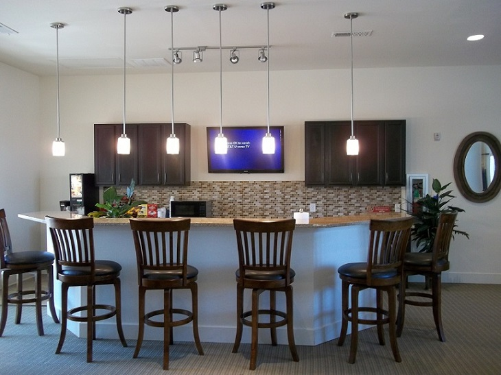 Family-Style Kitchen at Brookstone Park Apartments in Covington, LA