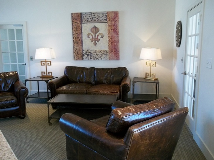 Spacious Living Room at Brookstone Park Apartments in Covington, LA