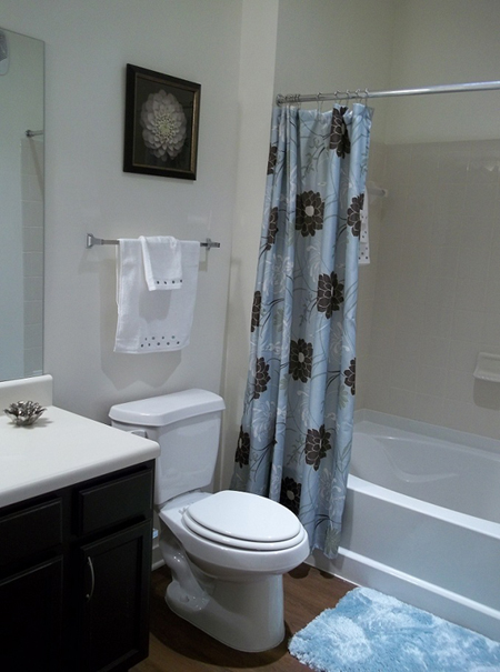 Bathroom at Brookstone Park Apartments in Covington, LA