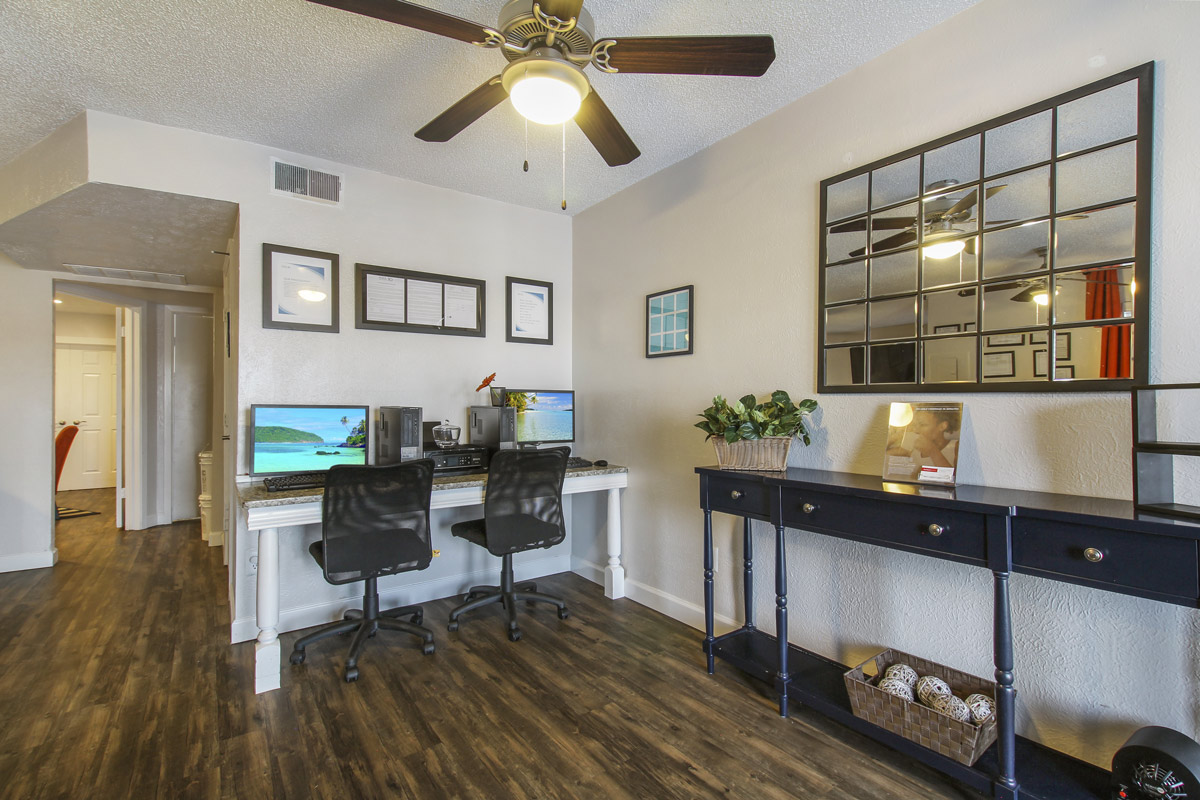 Business Center at Cadence Apartments in Dallas, Texas