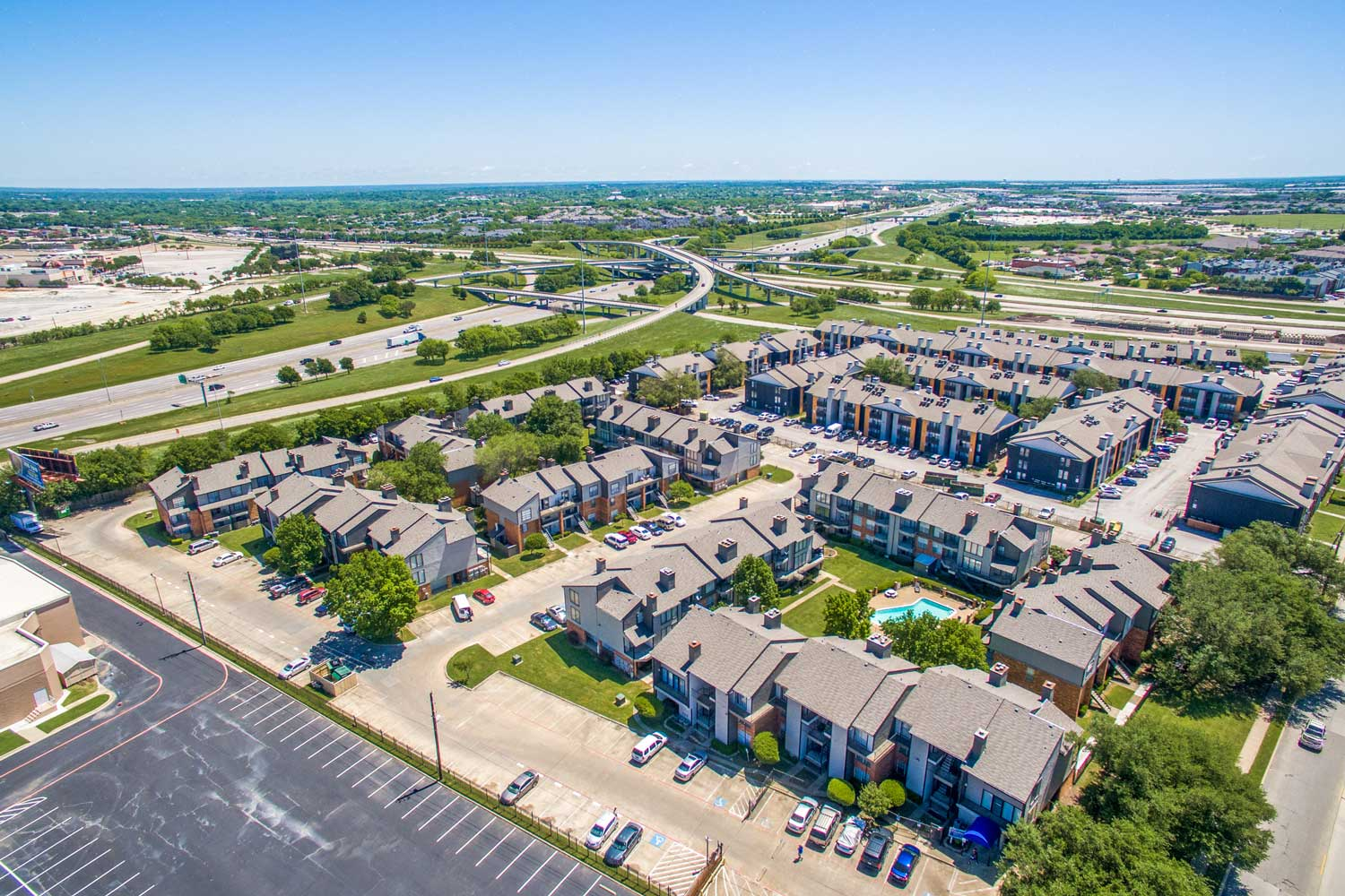 Aerial View at Cadence Apartments in Dallas, Texas