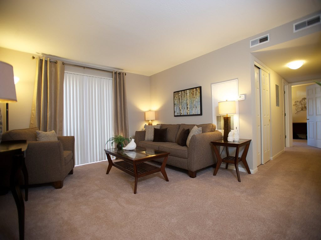One and Two-Bedroom Apartments for Rent at Carriage Square Apartments in Loveland, Ohio