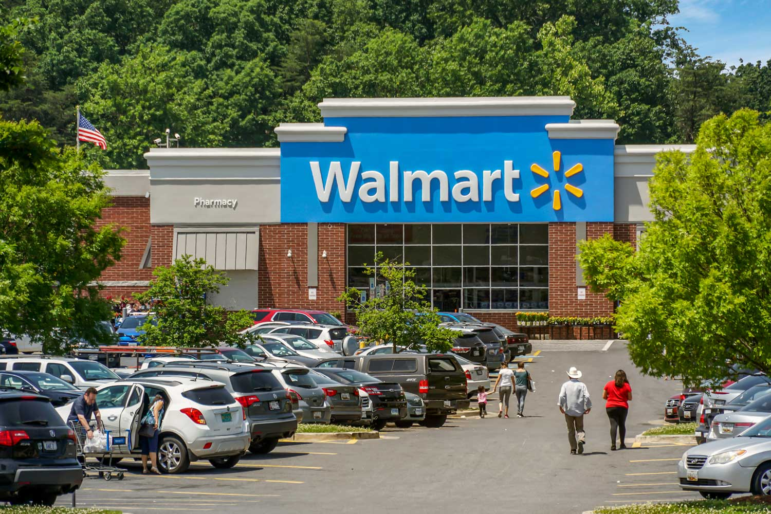Walmart is 10 minutes from Carrollon Manor Apartments in New Carrollton, MD