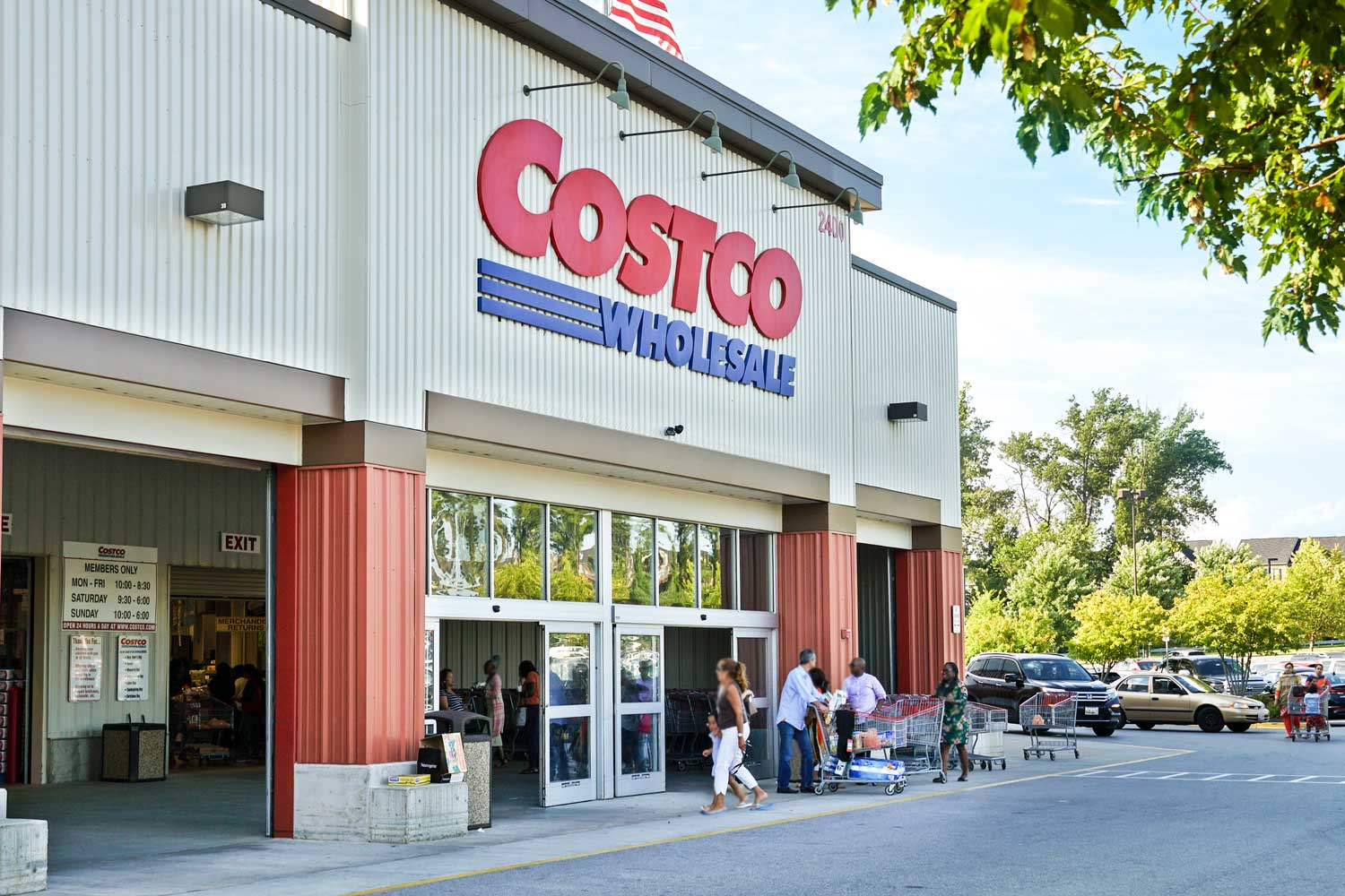 Costco is 10 minutes from Carrollon Manor Apartments in New Carrollton, MD