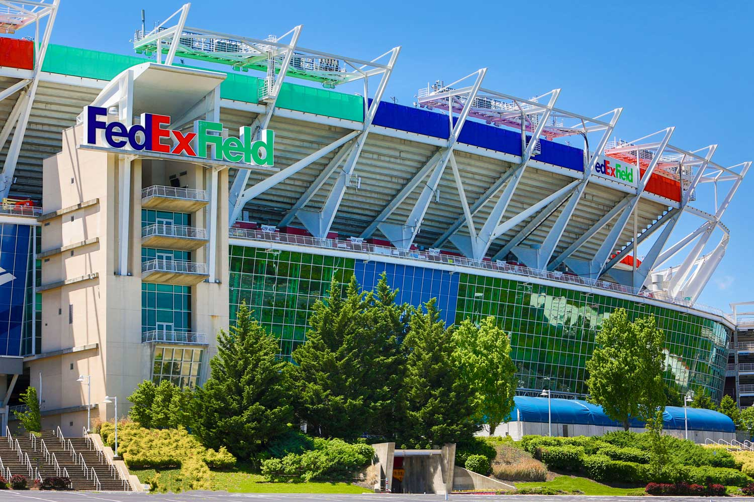 FedEx Field is 10 minutes from Carrollon Manor Apartments in New Carrollton, MD
