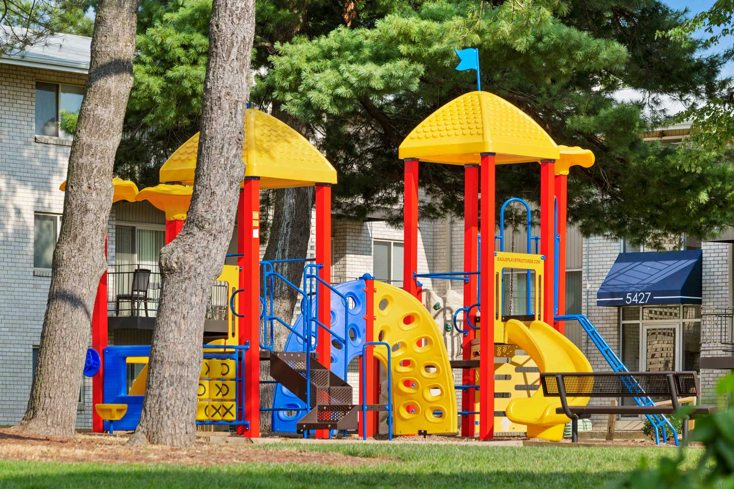Play area at Carrollon Manor Apartments in New Carrollton, MD