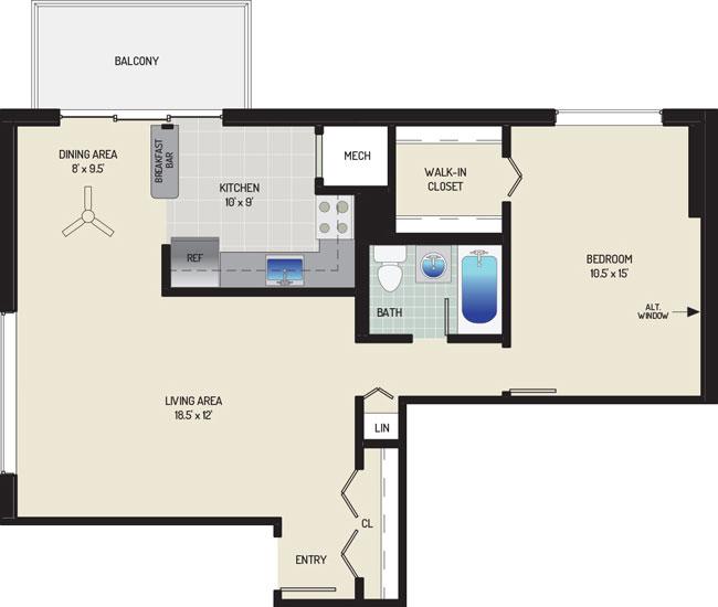 Carrollon Manor Apartments - Apartment 528625-201-A1